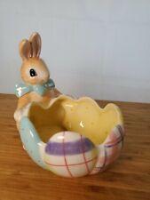 FITZ & FLOYD 2005 A GOOD EGG BUNNY Egg Bowl Spring Decor