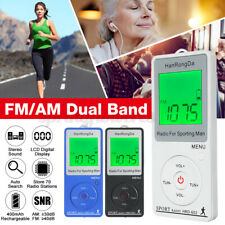 Mini Digital Portable Pocket LCD AM FM Radio 2 Band Stereo Receiver  !