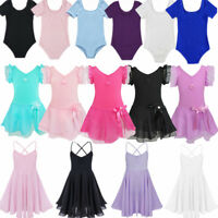 Toddler Girls Ballet Dance Leotard Tutu Dress Kids Gymnastics Dancewear Costume