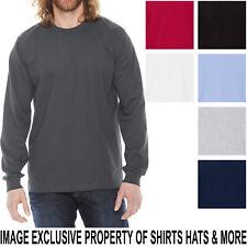5bdea32f99ad American Apparel Mens Long Sleeve T-Shirt Fine Jersey PRESHRUNK Cotton Tee  S-2XL