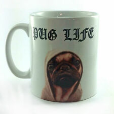 NEW PUG LIFE GIFT MUG CUP PRESENT CUTE DOG PUPPY LOVER OWNER BREEDER FUNNY THUG