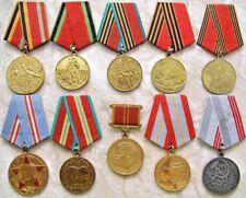 Red Army 10 medal set WWII Stalingrad Berlin Lenin Veteran Soviet russian ussr