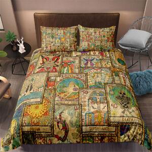 Tarot Duvet Quilt Cover Set Pillowcase Bedding Double King Single Super King