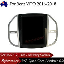 "12.1"" Tesla Style Android 6.0 Car Player Navi GPS For Benz VITO 2016-2018"
