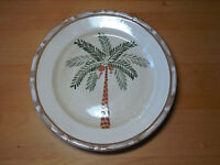 """Home Trends WEST PALM Dinner Plate 10 3/8"""" Green Brown    13 available"""