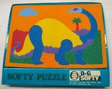 Vintage 1985 D-G Softy Brontosaurus Dinosaur Puzzle