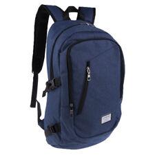 "14"" Waterproof Laptop Backpack Rucksack Notebook Bag+USB Charge Port Blue"