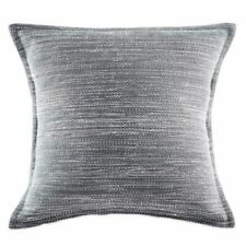 2 KAS  Arlo European Pillow Shams Gray White Contemporary Tonal Striae Stripes