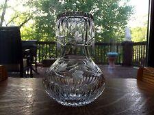 TUMBLE UP Bedside Carafe DECANTER Tumbler Glass Miller Rogaska IVY Lead Crystal