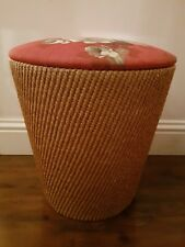Vintage Retro Storage Basket Seat With Lid