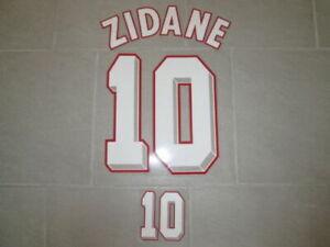 Flocage ZIDANE pour maillot équipe de France bleu 1998 patch shirt
