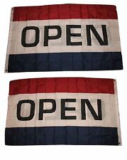 2X3 Advertising Open Horizontal 2 Faced 2-ply Wind Resistant Flag grommets