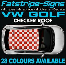 VW GOLF CHECKER ROOF GRAPHICS STICKERS STRIPES DECALS VOLKSWAGEN V DUB GTI R32