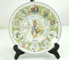 Vintage Wedgwood Peter Rabbit 1994 Birthday Plate Etruria & Barlaston #15