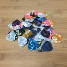 100X Lot Acoustic Bulk Celluloid Electric Colored Smooth Guitar Picks Plectrum