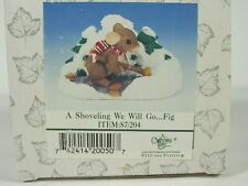 Charming Tails Fitz Floyd A Shoveling We Will Go 87/204 Anthropomorphic in box