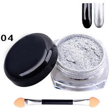 12Color Mirror Chrome Effect Glitter Dust Magic Shimmer Nail Art Powder DIY Gift
