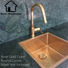 450*450*200mm Rose Gold/Copper Single Bowl Under Mount /Drop In Kitchen Sink