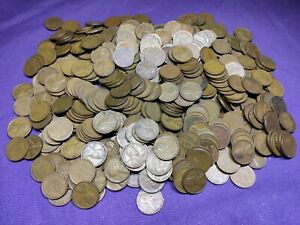 Lot of 500 Mixed Thirties Dates 1930 - 1939 Lincoln Wheat Cents Pennies!! Lot 5