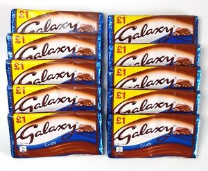 Galaxy Crispy 10x102g Share Bars - Best Before 29/08/2021