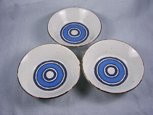 """THREE Midwinter Stonehenge Moon Blue 6-3/8"""" Coupe Cereal Bowls"""