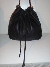 ORIGINAL COLE HAAN DRAWSTRING BUCKET BAG  MIDNIGHT BLACK $475USD  RETAIL