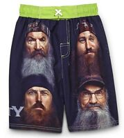 DUCK DYNASTY PHIL, SI, WILLIE Bathing Suit Swim Trunks NWT Boys Sizes 5 or 6 $24