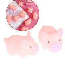 2pcs Mini Pink Pig doll Rubber Retro Pig Vocal Slime Antistress Toys Baby Gift _