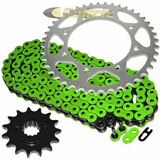 Green O-Ring Drive Chain & Sprocket Kit Fits KAWASAKI KLR650 KL650 1990-2016