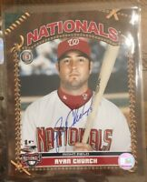 RYAN CHURCH AUTOGRAPHED SIGNED AUTO BASEBALL PHOTO 8x10 NATIONALS