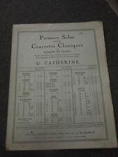 R Kreutzer 18 ème concerto pour violon et piano par G Catherine