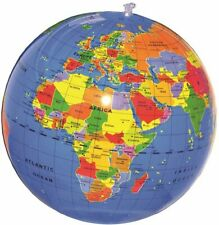 "New 12"" (30cm) Inflatable World Globe Caly Earth Map Atlas Beach Ball"