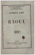 KARR Alphonse - RAOUL - 1859