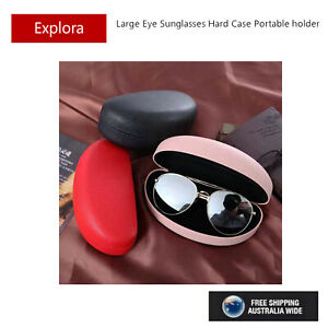 Large Size Sunglasses Eyeglasses Metal Hard Case - Pink