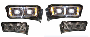 PAIR OF PETERBILT  378 379 HEADLIGHT ASSEMBLIES W/O SIGNAL LIGHTS PT0149 PT0150