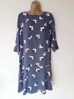 LOVELY WHITE STUFF DRESS SZ 12 IN VGC! GREY,OVERSIZE, SPOTTED