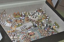 15mm roman era / spares -mixed eras painted & unpainted 150 figures- inf (22881)