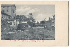Sweden; Dalslands Kanal, Billingfors Bridge PPC, Unposted, Undivided Back c 1905
