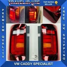 VW Caddy Rear Lights Genuine Tinted RHD Pair Upgrade To 2015 Onwards Style