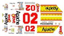 #02 Mark Martin Apache Stove 1982 1/32nd ScaleWaterslide Decals