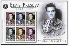 Bhutan 2003 MNH Elvis Presley Commem 25 Years King Rock & Roll 6v M/S II