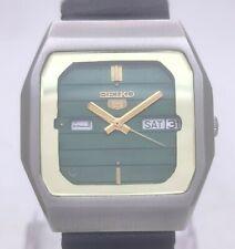 Vintage Seiko 5 Japan 6349-5340 23J Automatic Dual Day Window Men's Wrist Watch
