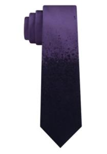 Calvin Klein Men's Dip Dye Skinny 2.5'' Silk Neck Tie, Purple, One Size