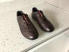 PRADA Sport Brown Leather Mens Smart Trainer / Sneaker Shoes UK 7 EU 41