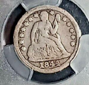 1844 Liberty Seated Dime  PCGS VG08  Orphan Annie!