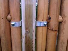 Befestigungssystem BAMBOO - Montage Set Bambuspfosten Holzpfosten 21-teilig