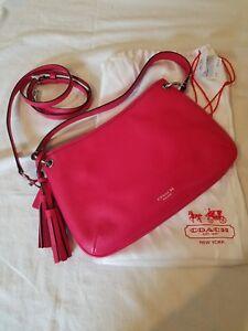 Coach 26601 Legacy Double Gusset Crossbody Leather Handbag $228 Pink Scarlett