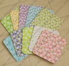 10pc graphic floral NO Message multipurpose gift / Message Small Card w envelope