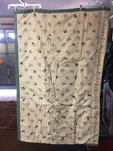 Handmade Deep Teal Green & Rose Blanket