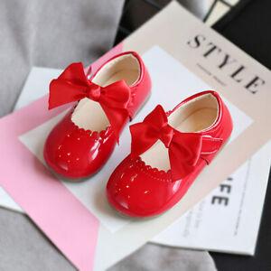 Cute Girls Kid Baby BowknotParty Wedding Pumps School Sandal Princess Shoes